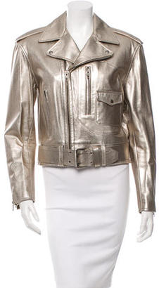 Ralph Lauren Collection Leather Moto Jacket $725 thestylecure.com