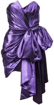 Alexandre Vauthier metallic bow mini dress