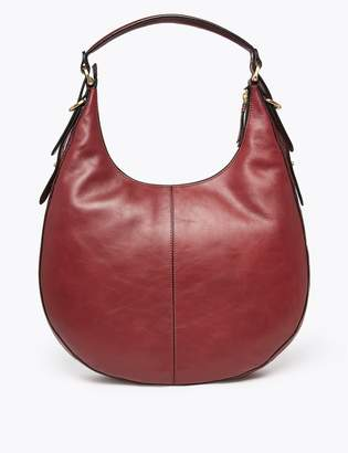 M&S CollectionMarks and Spencer Leather Hobo Bag