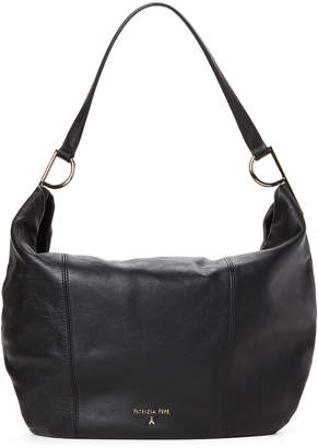 Patrizia Pepe Black Leather Hobo