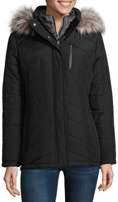 Free Country Heavyweight Hooded Water Resistant Puffer Jacket