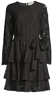 MICHAEL Michael Kors Women's Lace Tiered Dress