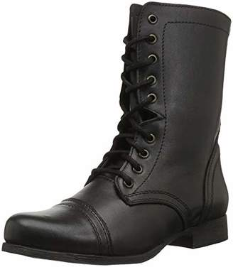 7444cf55b32 Steve Madden Black Combat Boots - ShopStyle