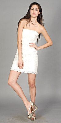 Strapless White Dresses by Tracy Reese