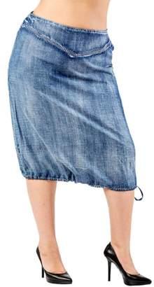 Standards & Practices Drawstring Hem Tencel(R)Lyocell Skirt