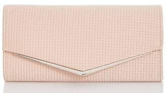 Quiz Pink Textured Envelope Bag