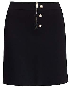 Sandro Women's Bale Imitation Pearl-Button Mini A-Line Skirt