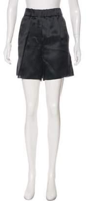Brunello Cucinelli High-Rise Silk Shorts High-Rise Silk Shorts
