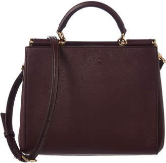 Dolce & Gabbana Sicily Leather Tote