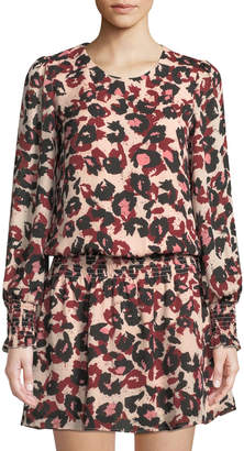 Parker Printed Drop-Waist Flared Dress