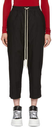 Rick Owens Black Cropped Lounge Pants