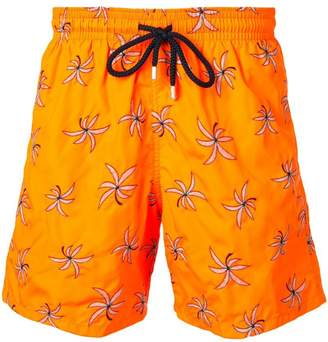 Vilebrequin floral embroidery swim trunks