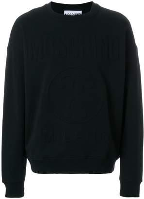 Moschino logo relief sweatshirt