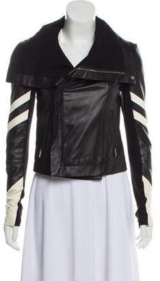 Veda Leather Colorblock Jacket