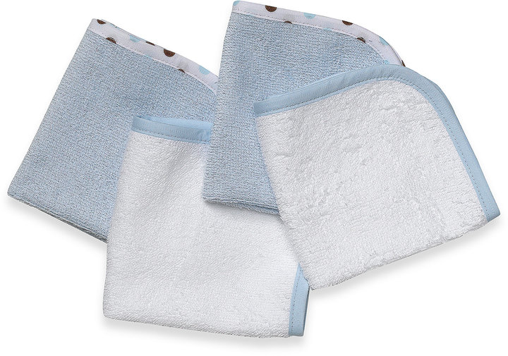 T.L.Care TL Care® Organic Washcloth (Set of 4) in Blue