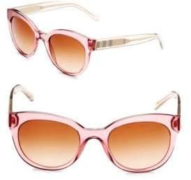 Burberry Two-Tone Cat Eye Sunglasses