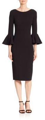 MICHAEL Michael KorsMichael Kors Collection Bell-Cuff Virgin Wool Sheath Dress