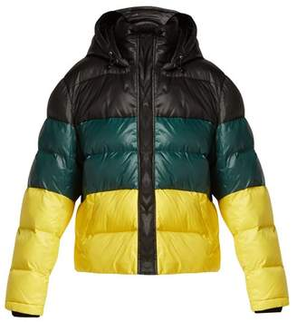Proenza Schouler Pswl - Striped Quilted Down Filled Jacket - Womens - Black Yellow