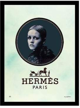 Hermes Luxe West Horse and Carriage Fairchild Paris Vintage Wall Art