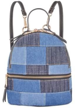Steve Madden Kelce Denim Patch Mini Backpack