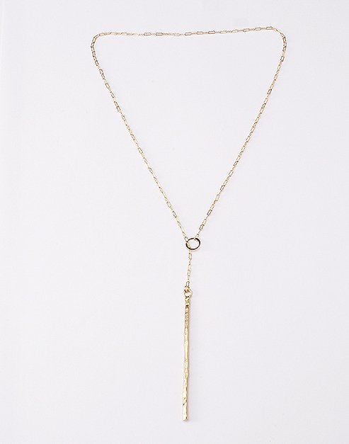 Morra Designs, Hammered bar lariat