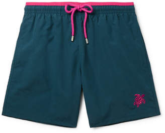 Vilebrequin Moka Mid-Length Embroidered Swim Shorts - Men - Green