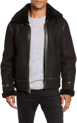 Rag & Bone Leather and Genuine Shearling Flight Jacket