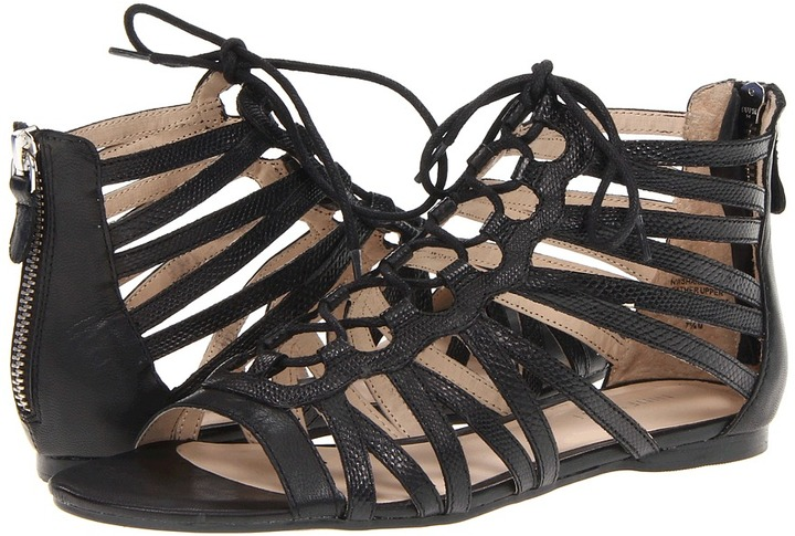Nine West Shakethat (Black/Black Leather) - Footwear