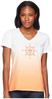 Life is Good Compass Star Crusher Vee Tee Women's T Shirt