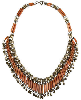 One Kings Lane Vintage Egyptian Revival Red Coral Necklace - Treasure Trove NYC
