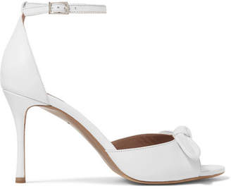 Tabitha Simmons Mimi Bow-embellished Leather Sandals - White