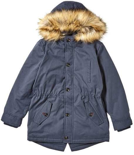 **Boys Navy Hooded Coat (5 - 12 years)