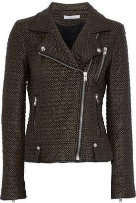 IRO Camy Faux Leather And Felt Biker Jacket