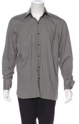 Tom Ford Abstract Print Button-Up Shirt
