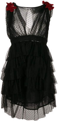 Christian Pellizzari tiered tulle mini dress