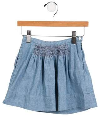 Cacharel Girls' Chambray A-Line Skirt