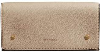 Burberry Two-Tone Continental Wallet