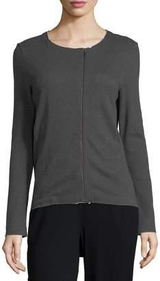 Moto Raffi Asymmetric-Zip Knit Jacket