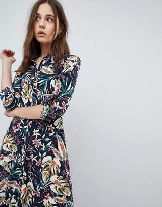 Qed London Printed Maxi Shirt Dress