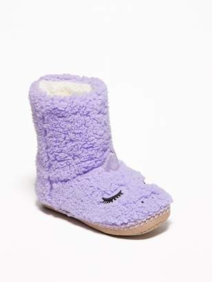 Old Navy Sherpa Critter Slipper Boots for Girls