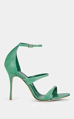 Manolo Blahnik Women's Ratib Watersnake Sandals - Green Snake