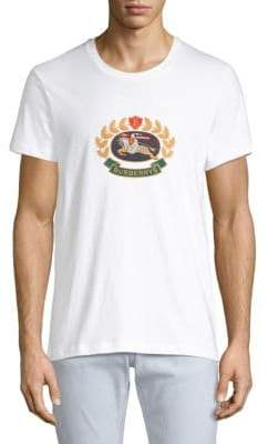 Burberry Gully Crest White Tee