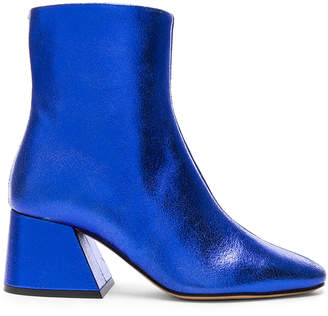 Maison Margiela Laminated Leather Chunky Heel Boots