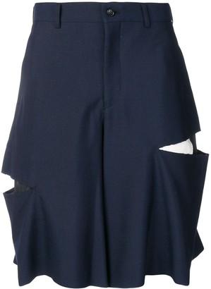 Comme des Garcons slash cut bermuda shorts