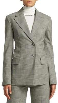 Proenza Schouler Single-Breasted Glen Check Blazer
