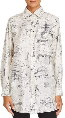 Burberry Chava Silk Button-Down Top
