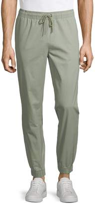 Black Brown 1826 Drawcord Chino Trousers