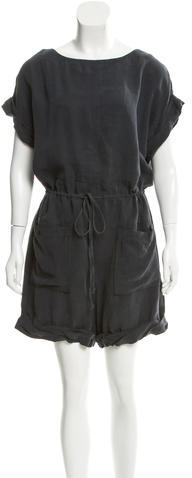 3.1 Phillip Lim 3.1 Phillip Lim Scoop Neck Short Sleeve Romper