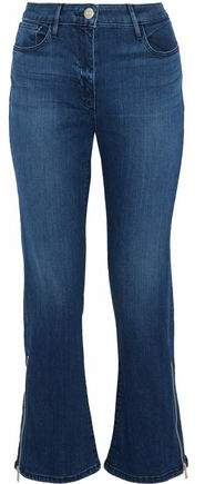 Midway Zip-Detailed High-Rise Kick-Flare Jeans