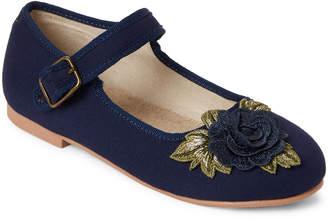 Joyfolie (Kids Girls) Navy Lola Embellished Mary Jane Shoes